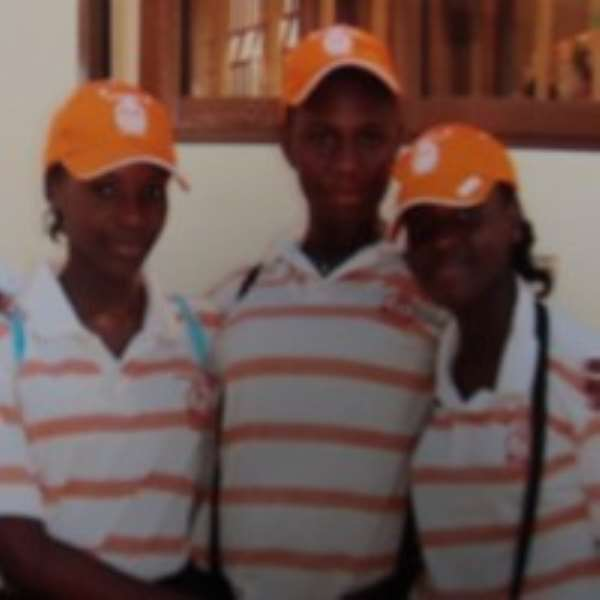 •From Left: Melisah Donkoh, Ann-Marie Donkoh and Mercy Akrofi