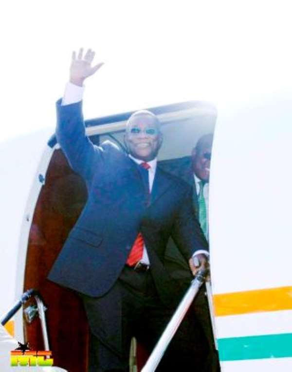President Mills Leaves for Nigeria