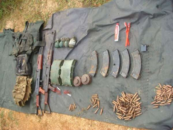 Militants' Leader Hands Over Weapons