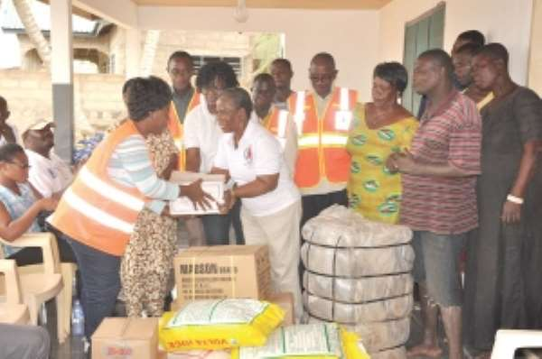 NADMO supports Ada farmers