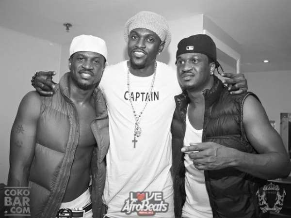 P-Square Sets UK On Fire At Afro Beats Concert, Tot'Ham Star, Emmanuel Adebayor Salutes Them
