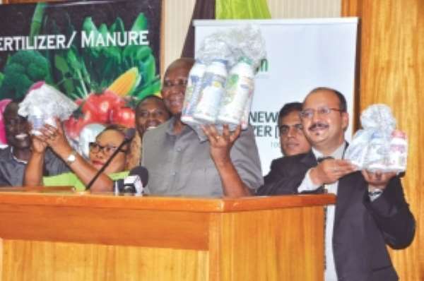 Organic fertiliser products launched in Accra