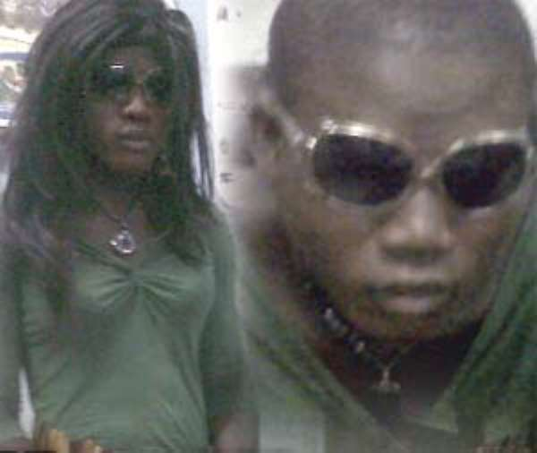 BUSTED MAN-WOMAN! Kwamina Owusu