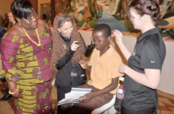 Free ear screening for students of School for the Deaf