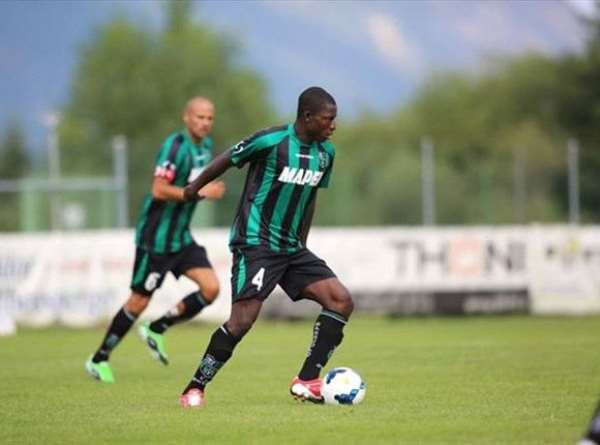 Abass Alhassan in action for Sassuolo