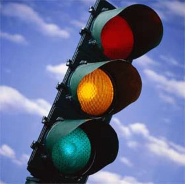 Koforidua: Non compliance of traffic light laws