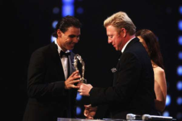 Rafael+Nadal+Boris+Becker+Awards+Ceremony+z0Sm9aZwDiql