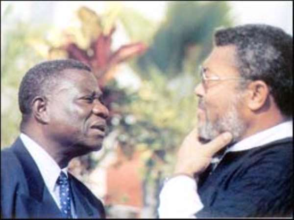 Mr. John Rawlings and President John Mills