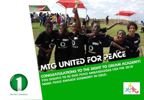 RIGHT TO DREAM ACADEMY - 2010 MTG PEACE AMBASSADORS