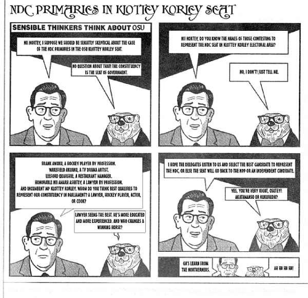 NDC PRIMARIES KLOTTEY KORLEY, SEAT OF GOVERNMENT