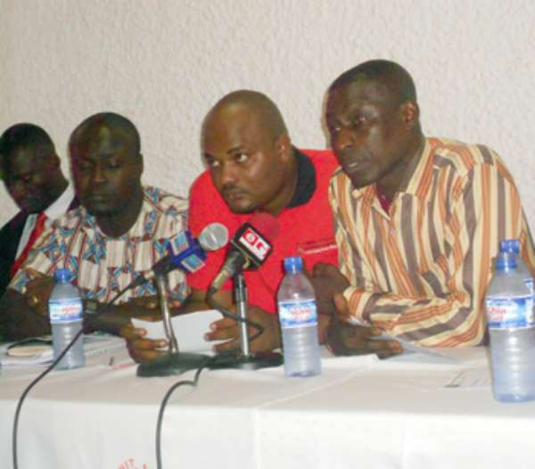 Some leading members of AFAG addressing the media