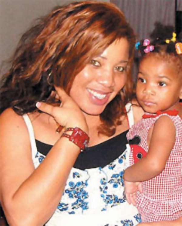 Monalisa Chinda and her daughter