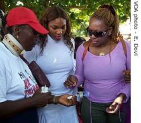 US Tennis Star Assists Ghana Vaccination Campaign