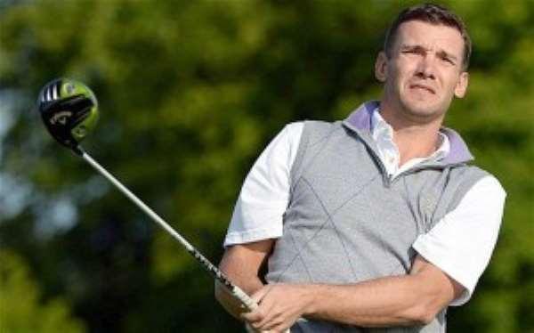Former AC Milan striker Andriy Shevchenko now into Golf