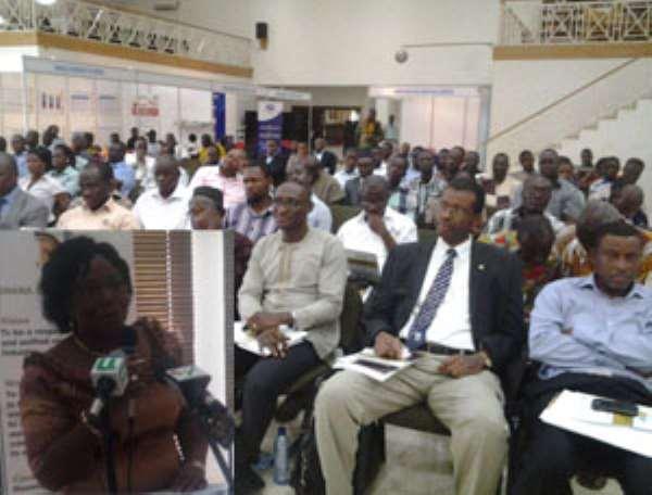 Participants at tehe conference, inset. Bernice Adiku Heloo