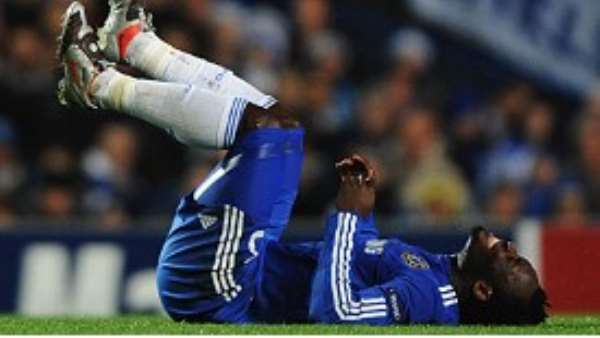 Essien suffered injury on Tuesday night