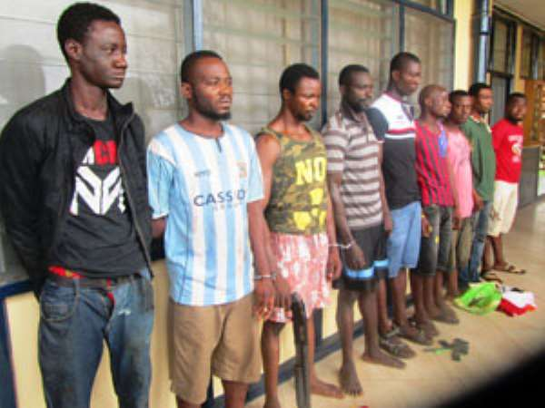 11 Suspected Robbers Arrested In Kumasi