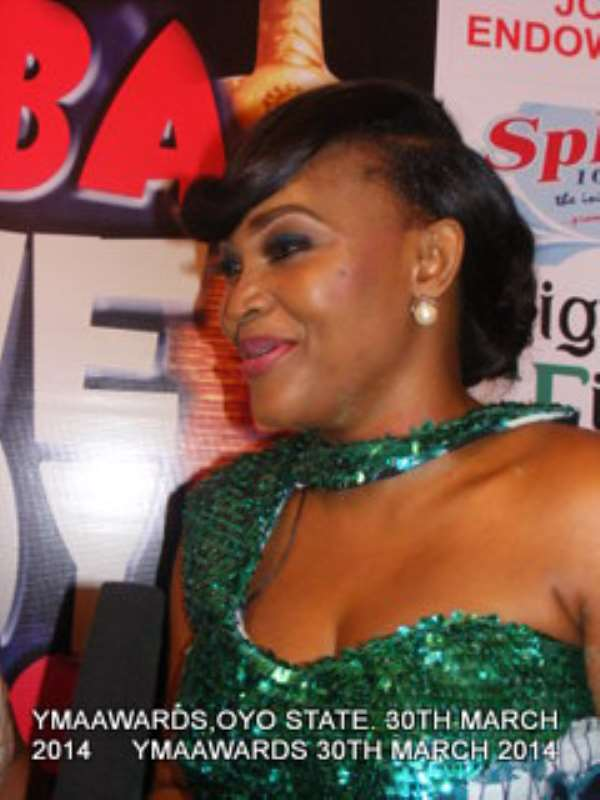 Mercy Aigbe's Stunning Dress To Yoruba Movies Academy Awards