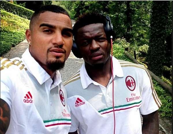 Kevin-Prince Boateng and Sulley Muntari.