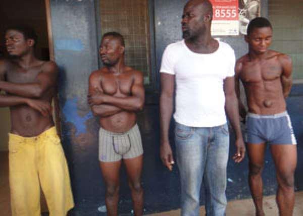 The suspected in police custody