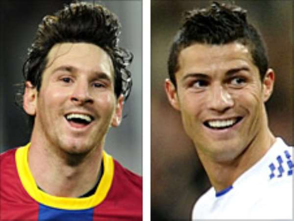 Lionel Messi (left) and Cristiano Ronaldo are set to play at the Emirates