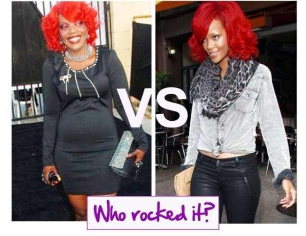 Empress Njamah vs Rihanna | Battle of the Red Heads