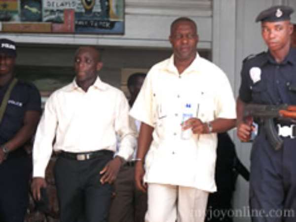 Tagor, in long-sleeves and Alhaji Issah Abass (second from right)