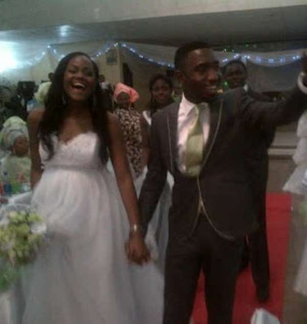 Timi Dakolo And Wife,busola On Their Wedding Day