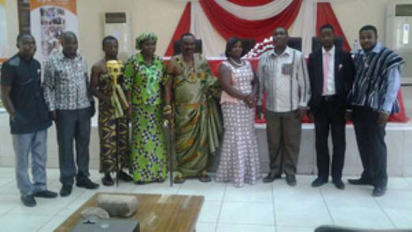 Dignitories at the launch including Togbega Gabusu in the Middle