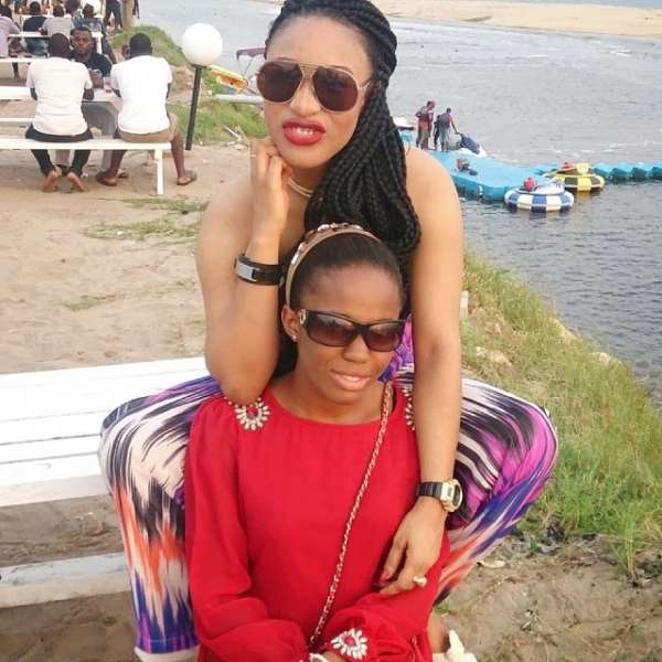 Tonto Dikeh, Spotted With Her Maid