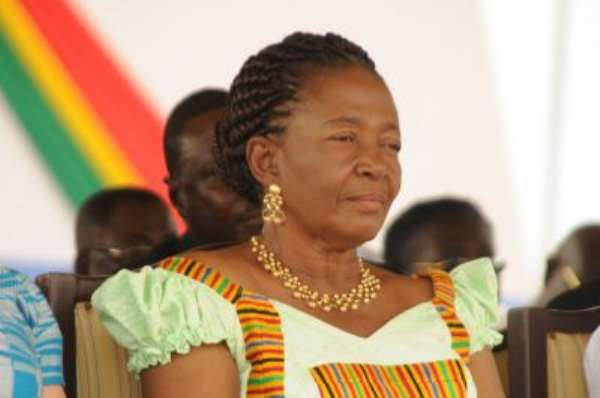 Where is Naadu Mills, the First Lady?