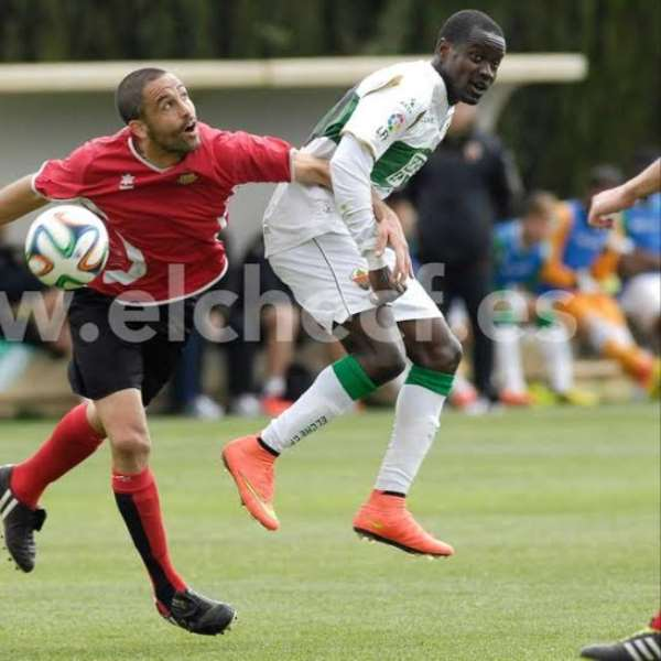 Michael Anaba enjoying some time at Elche
