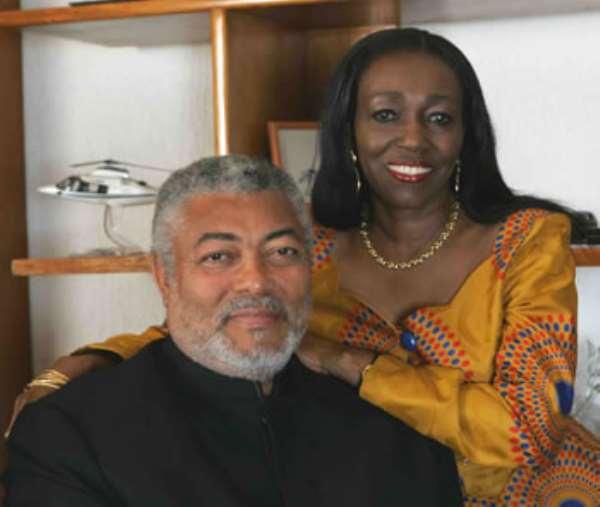 Rawlings and Nana Konadu call for renewal of faith at Easter