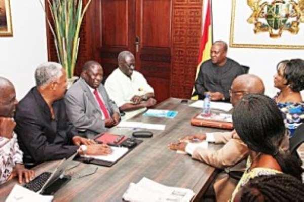 President Mahama and team on retreat