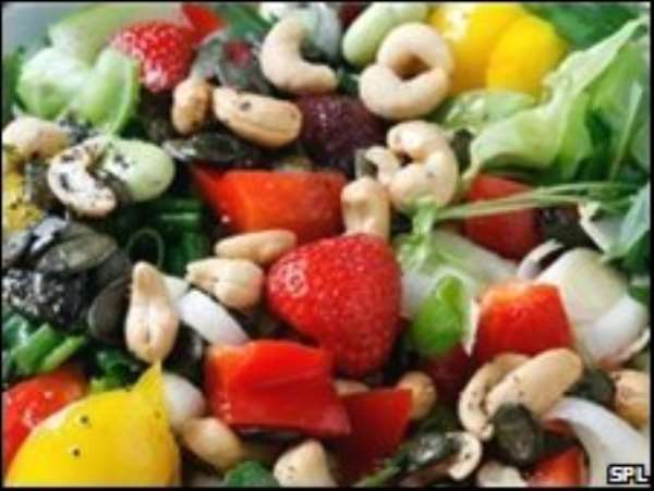 Eat healthy to reduce high blood pressure