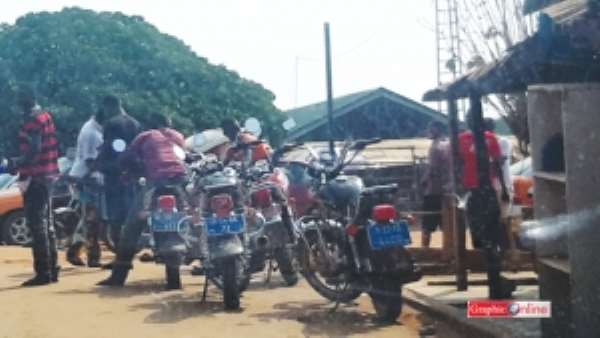 Motorcycle transportation booming at Donkorkrom