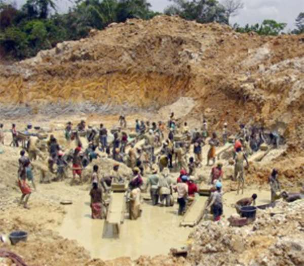 Illegal Gold Miners (galamsey)