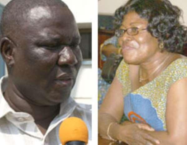 Mrs. Ama Benyiwah Doe, Central Regional Minister (left), Mr. Joe Gidisu, Minister for Roads & Highways (right)