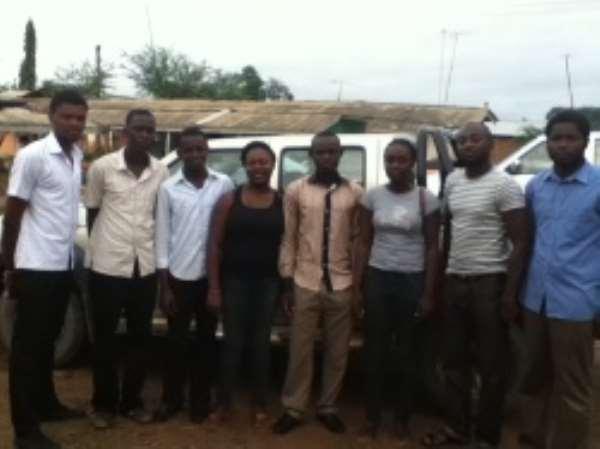 From left; Saddique Salamanu, Kulai Amadu Manigbe, Joseph Opoku, Ernestina Garbrah, Michael Boakye, Audrey Gambrah, Richard Antwi and Saviour Okine
