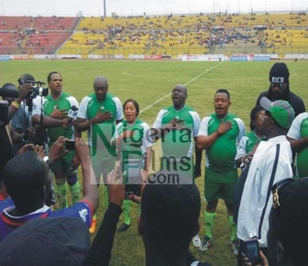 Pictures From Ghana, Nigeria Movie Stars Match