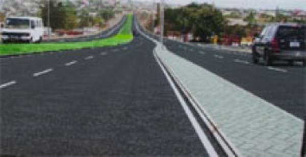 An artist's impression of the Awoshie-Pokuase road when completed.