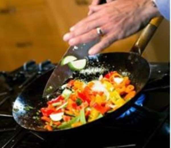 Nutritional value of fried vegetables