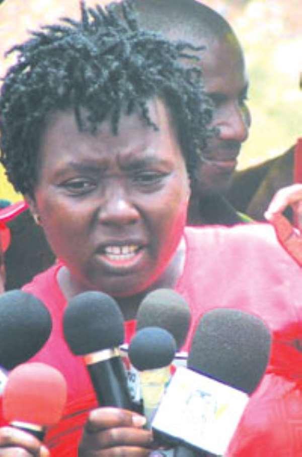 Madam Emelia Arthur,  District Chief Executive for Shama