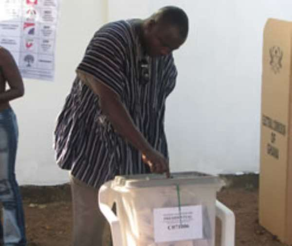 The peoples of our nation Ghana go and vote on the 28th. Dec