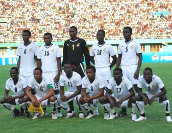 A lineup of the Black Satellites of Ghana