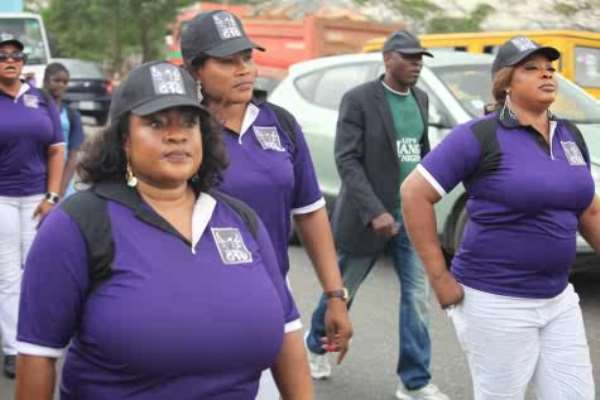 Nollywood Actress Storm Lagos For March Aganist Domestiv Violence (Photos)
