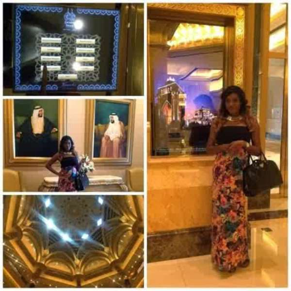 Chika Ike Lodges In The World Most Expensive Hotel In Abu Dubai (photos)