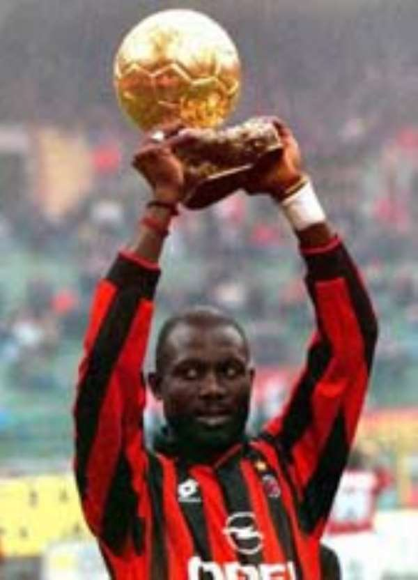 GEORGE WEAH GIVES LEROY THUMBS UP