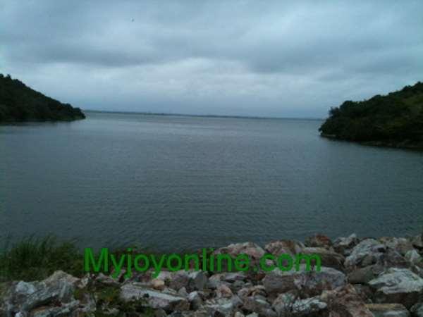 Lower side of the Weija Dam