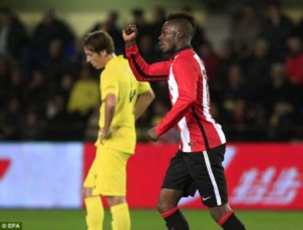 Man City join long list of top clubs pursuing Spanish-born Ghanaian wideman Inaki Williams